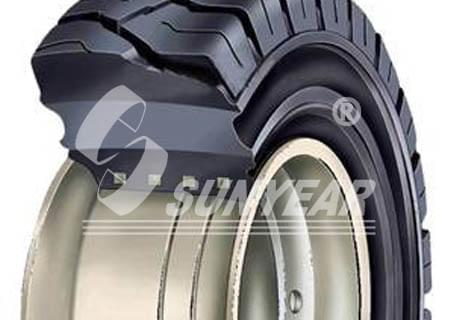 排水发电挂车的免充气轮胎
