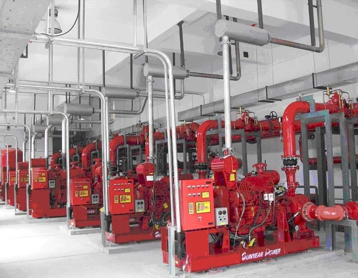 三业科技柴油机水泵的应用