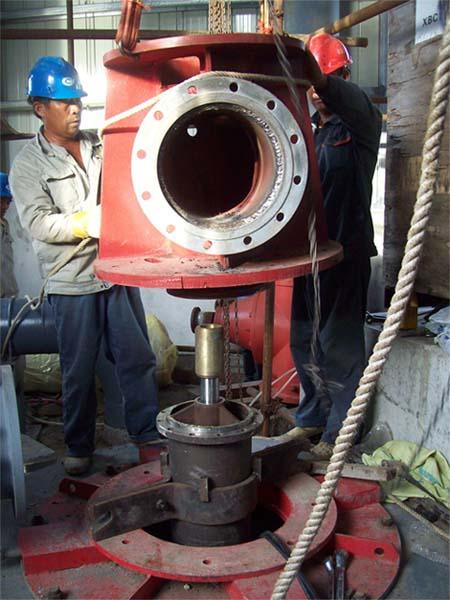 立式柴油机长轴泵在安装调试