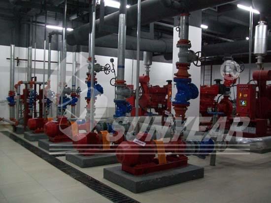 在沈阳中一航空飞机库中应用的数字定压柴油机消防泵