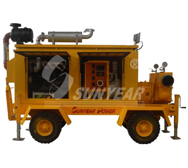 排水发电挂车免动力移动