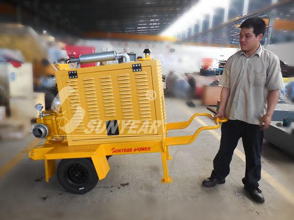 手推式移动抽水泵车