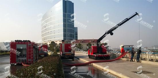 大流量消防水泵施工现场