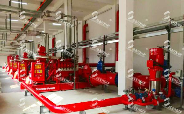 三业科技柴油机消防水泵