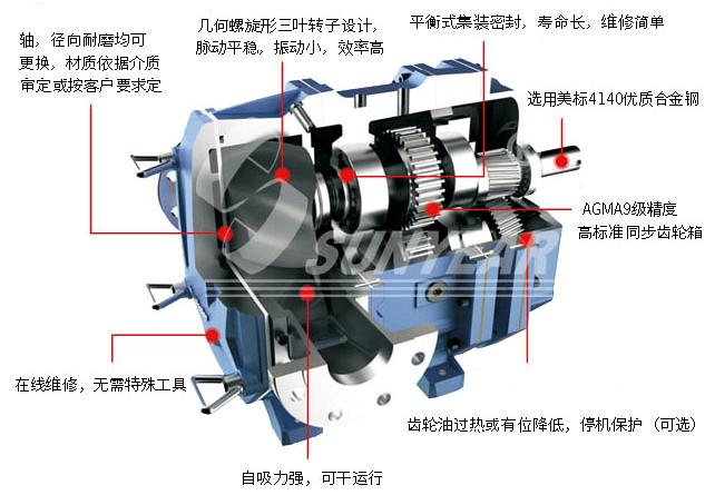 排水抢险车凸轮转子泵图片