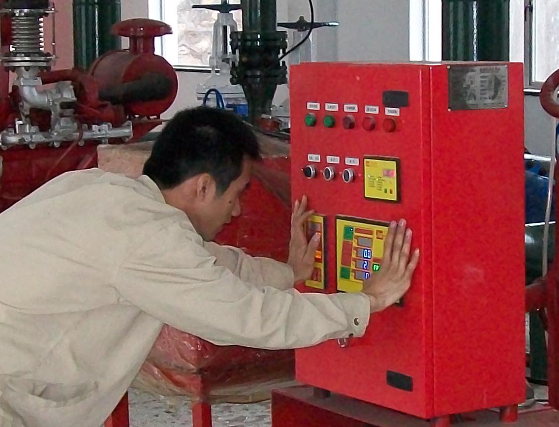 手动控制消防水泵