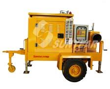 厦门大学选用广州三业拖车式柴油机排涝泵
